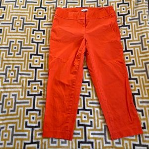 Loft Orange Cropped Capri Pants 6 Womens